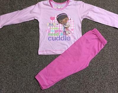 "Disney Doc McStuffins girls pyjamas sleepwear nightwear ""you need a cuddle"""