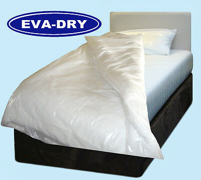 """EVA Dry Waterproof King Size Quilt Duvet Cover Incontinence 90 x 86"""" Bed Wetting"""