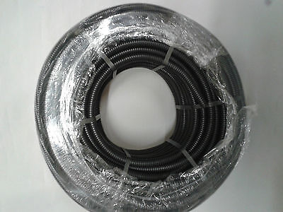 20mm FLEXIBLE BLACK CONDUIT Tube with pull wire Flex Pipe -20mm x 20m Black
