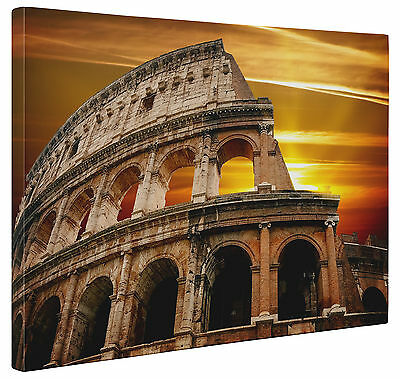 Canvas Colosseum Sunset Rome Italy Art Wall Print a1 a2