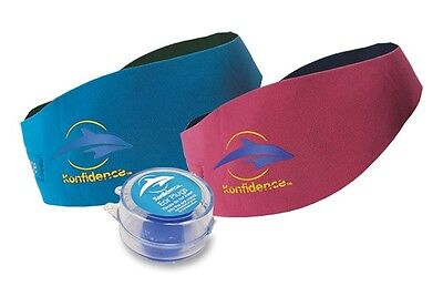 Konfidence Aquaband Aqua Band Ear Band Earband and Putty Ear Plugs Baby Swimming