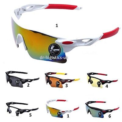 Outdoor Sport Cycling Bicycle Running Bike Riding Sun Glasses Eyewear Fishing.