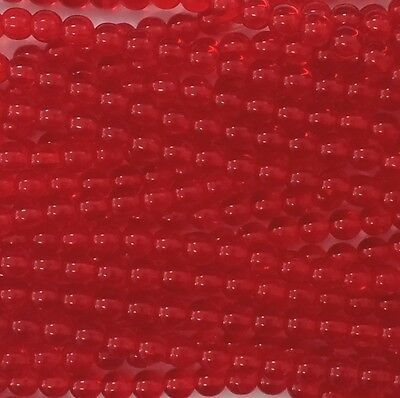 Light Red Transparent Czech Glass Round Beads 3mm or 6mm - No. 9008