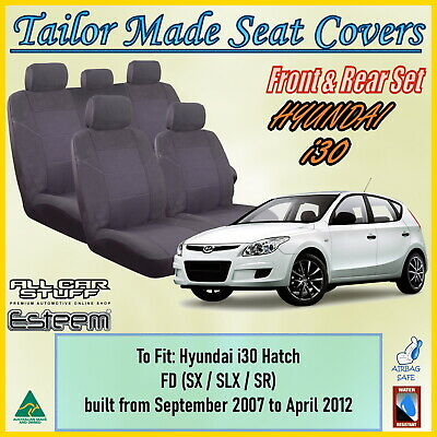 Tailor Made Seat Covers for Hyundai i30 Hatch FD / SLX / SR 09/2007 to 04/2012