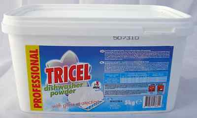 5kg Tricel Dishwasher Powder Dishwash Catering Supplies Bulk Buy Cleaning