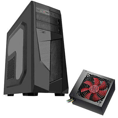 "Avp Mamba Black - 750W Psu - Atx Pc Case Inc Side Window & 2.5"" Ssd Support"
