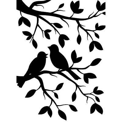 Darice Embossing Folder ~ BIRDS BRANCH ~ Tree Leaves NEW Just Out A2 1219-102