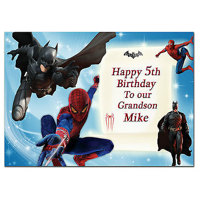 221 Personalised greeting card; Amazing Spider-man 2 Batman; Best Special Great