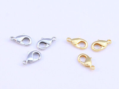 Lobster clasps in Gold or Silver,  6x12mm OR  7.5x15mm