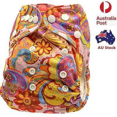 Reusable Pocket Baby Modern Cloth Nappy Pocket Nappies Diaper FREE inserts (D31)