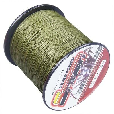 New!100M-2000M Army Green 6LB-300LB Super Strong Dyneema Braid Sea Fishing Line