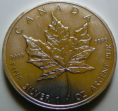 5 dollars Maple Leaf (Canada) 1oz, once argent 31.10g