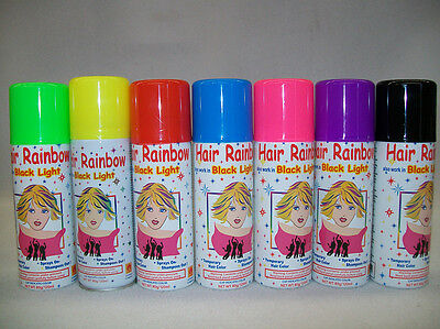 Hairspray assorted colours,fun temporary hair colour