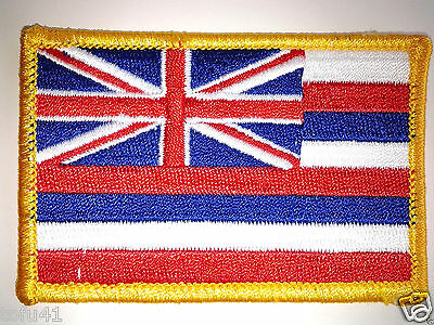 HAWAII STATE FLAG Biker Patch PM6812 EE