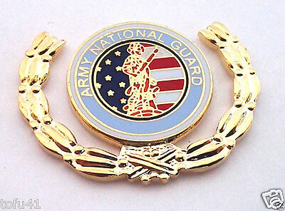 ARMY NATIONAL GUARD WITH WREATH  Military Veteran US ARMY Hat Pin 14591 HO