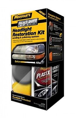 Meguiar's Heavy Duty Headlight Restoration Kit G3000, New, Free Shipping