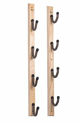 Gun Rack Rifle Shotgun Fishing Rod Rack HD12 USA Made Hold Up Displays Hardwood