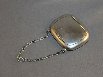 Antique Edwardian English Sterling Silver Chatelaine Compact 1908 Birmingham