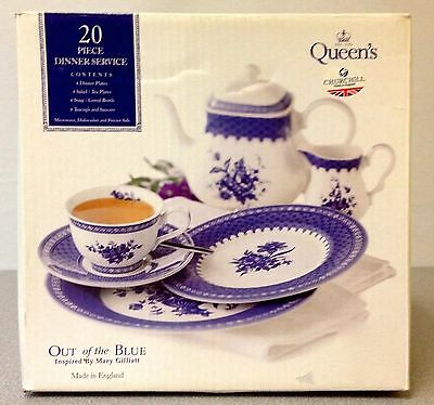 Out of the Blue 20 Piece Dinner Service****NIB****