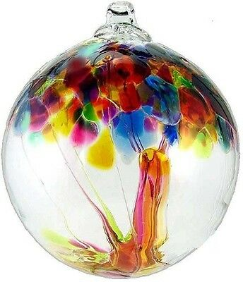 Kitras Art Glass TREE OF ENCHANTMENT SUMMER Hand Blown Glass Ornament Witch Ball
