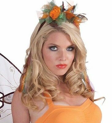 Autumn Fairy Wand Flower Pink Orange Pixie Dress Up Halloween Costume Accessory