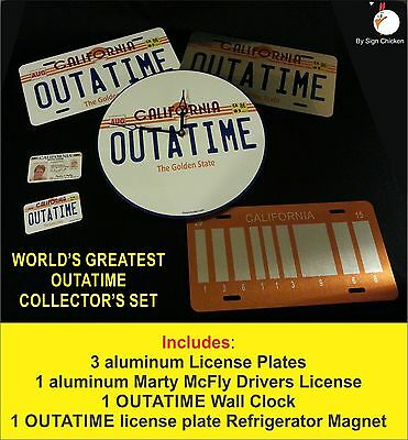Outatime, Back To The Future - World's Greatest Collectors Set / License Plate