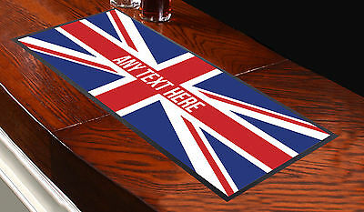Personalised Union Jack Bar Runner Ideal For Home Cocktail Party Pub Bar Mat