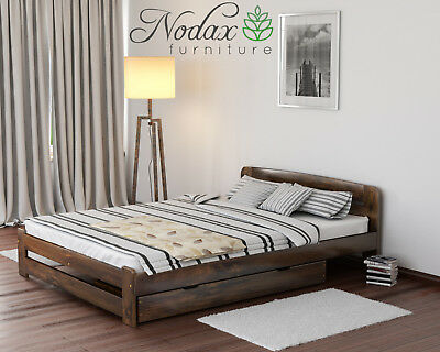 Solid Pine 5ft King Size Bed Frame & Slats/**with choice of Underbed Drawer