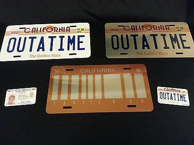 Outatime, Back To The Future - Quick Silver Collectors Set / License Plate