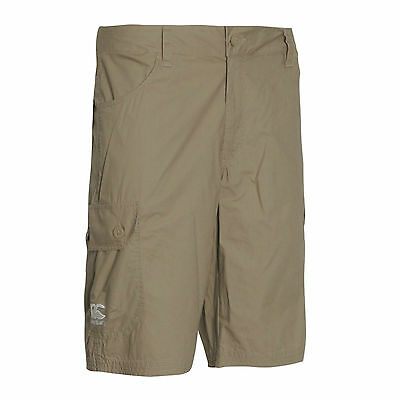 * SALE Canterbury Rugby Mens Woven Cargo Shorts Size Large Khaki