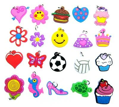 (Packs of 20pcs) Lovely Charms for Rainbow Loom Rubberband Bracelets