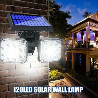 6 x Solar Powered 3*LED Fence Gutter Light Outdoor Garden Yard Wall Pathway Lamp