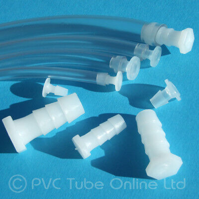 Aquarium Connector Tube Joiner – T, Elbow, Y – Plastic Fitting Fish Tank Airline