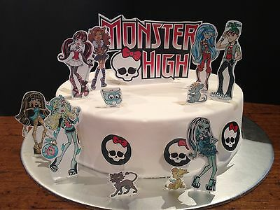 Monster High Edible Cake decoration set - Wafer Toppers