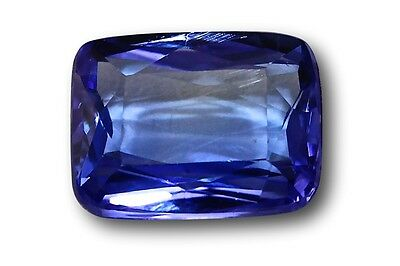Tanzanite véritable, 1.89 carat taille rectangle bleu violet