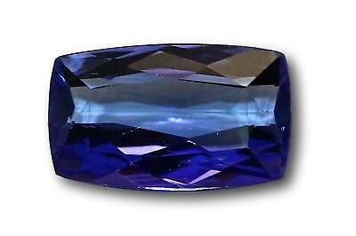 Tanzanite véritable, 1.65 carat taille rectangle bleu violet