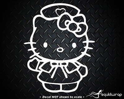 """HELLO KITTY WORD HEART BOW ANGEL DECAL STICKER 42/""""w x 6/""""h Any 1 color"""