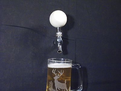 CUE BALL BEER KEG TAP HANDLE KEGERATOR EIGHTBALL **FREE SHIPPING**