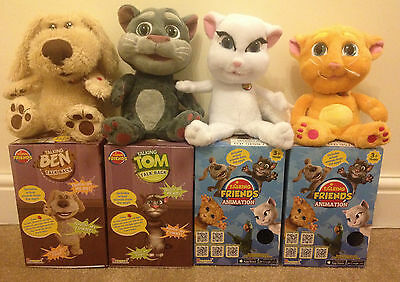 Brand New - Talking Tom Ben Ginger Angela Cat Plush App Toy with original sounds