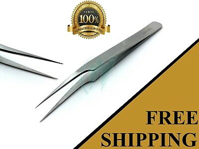 """Swiss Jeweler Style Suture Removal Forceps #8 Smooth Fine Point Tweezers 4.5"""""""