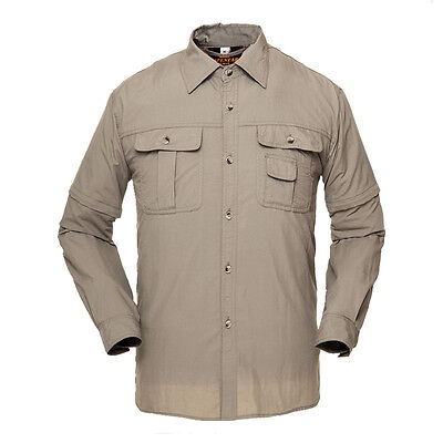 New Mens Quick Dry Shirt Outdoor Clothes Running Fishing Long Sleeve Casual Coat
