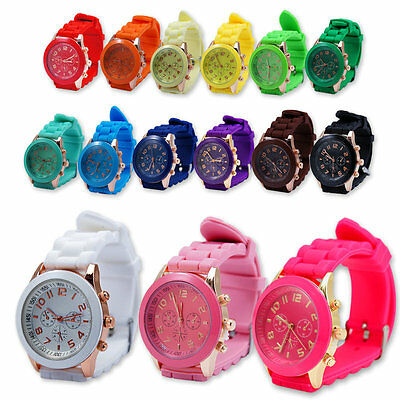 Cool Children's Jelly Silicone Colour Wrist Watch for Boy Girls Unisex Kids