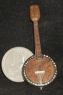Dollhouse Miniature Mexican Wooden Banjo 1:12 Music Musical Instrument #WI-1703