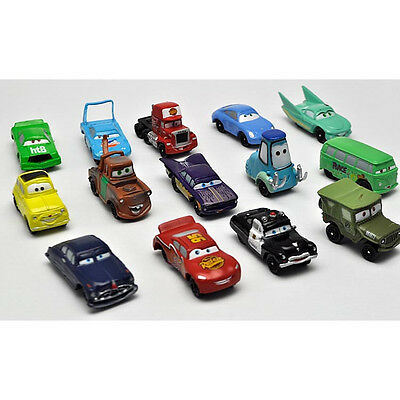 14Pcs CARS Figures Lightning McQueen Sally Mater Guido Mack Toy Figure #LC