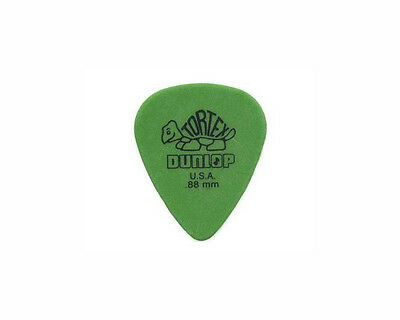 Jim Dunlop Tortex Green 418R .88mm Guitar Picks 6 pack