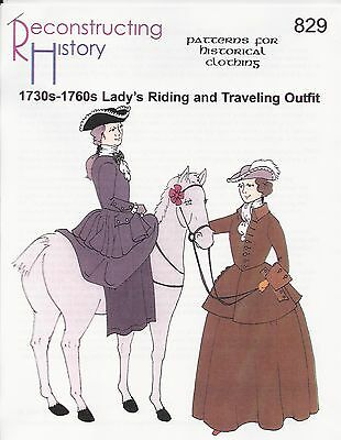 Schnittmuster RH 829: 1730s-1760s Lady's Riding Outfit