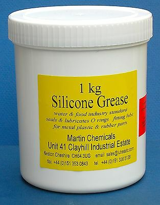 Silicone Grease 1kg  (36.2oz) lubesETC  water/food ok - taps/accessories