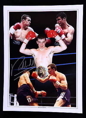 New Richie Woodhall Signed 12x16 Boxing Montage