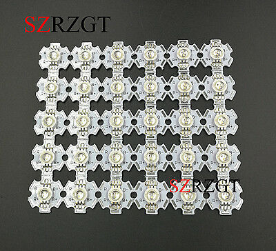 10pcs x 3W RGB Color High Power LED Chip Light with 20mm star base for DIY