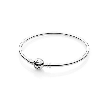 New Authentic Pandora Bangle Bracelet 590713-21 Sterling Silver 8.3 Inches